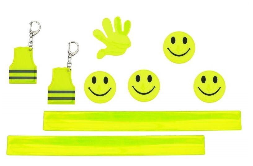 set von reflektorband ruler smiles reflektor smile. Black Bedroom Furniture Sets. Home Design Ideas